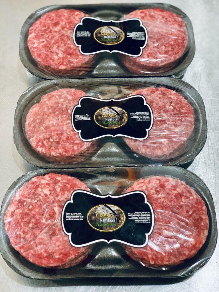 100% beef patties