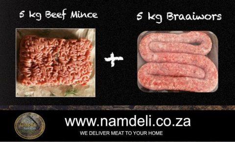 Massive Bulk Mince and Wors Sausage Hamper