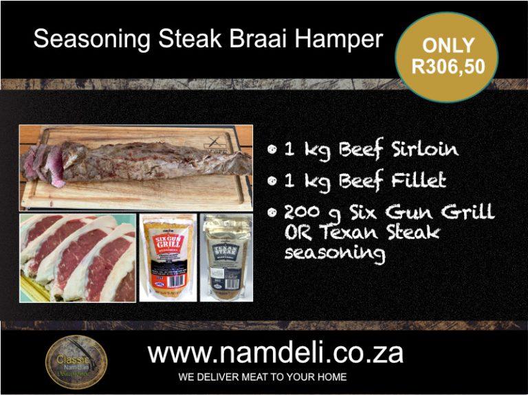 Seasoning Steak Braai